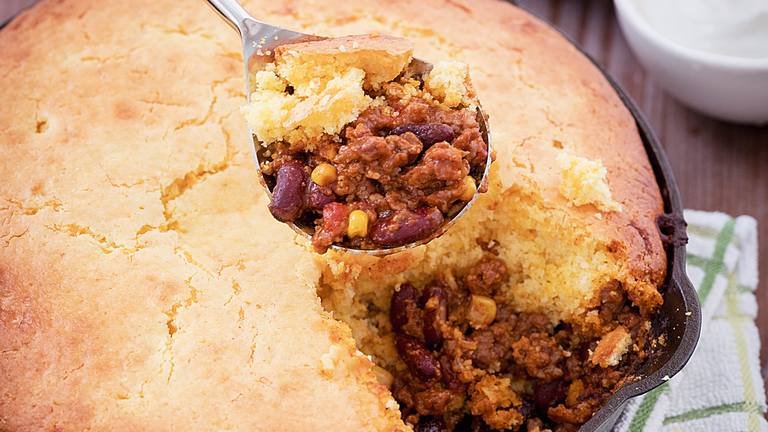 Reese Witherspoon's Corn Bread Chili Pie images
