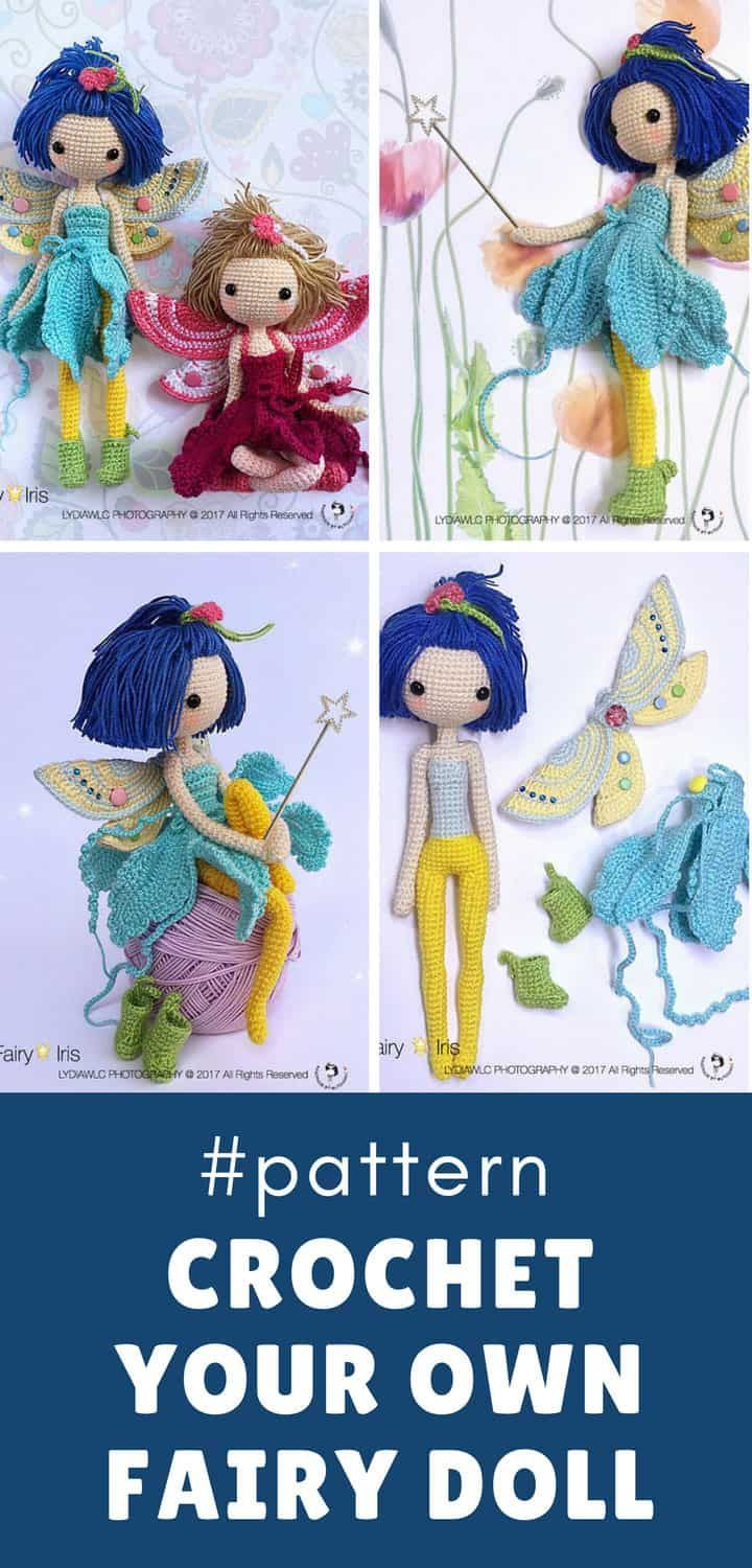 Iris the Crochet Fairy Doll is Waiting to Share her Magic #crochettoysanddolls