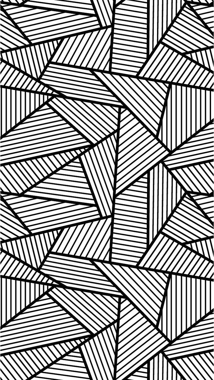 Free coloring page «coloring-adult-triangles-traits». Anti-stress ...