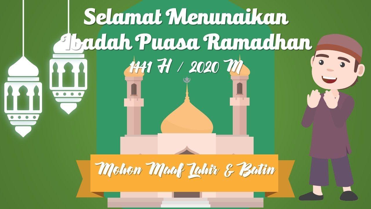 Free Download Template Power Point Terbaik Tema Ucapan Ramadhan 2020 Di 2020 Kartun