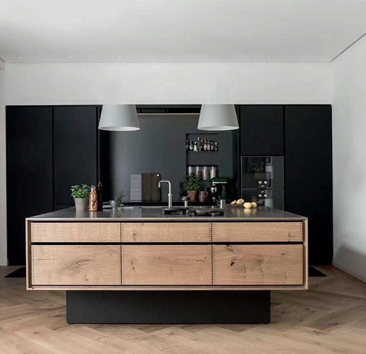 Minimalistic Interior Design Moderne Kuche Haus Kuchen Kuche Holzboden