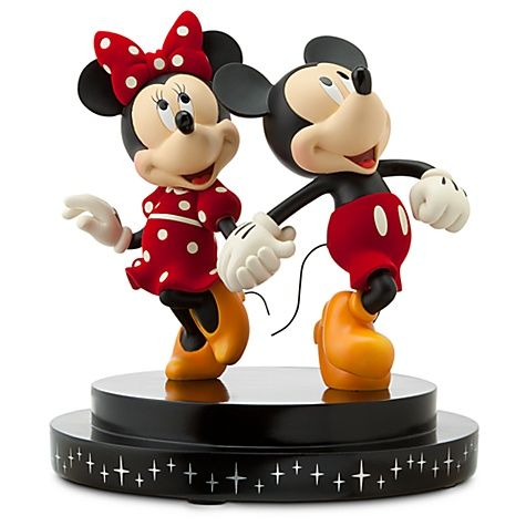 Disney Store 25th Anniversary Minnie and Mickey Mouse Figurine ...