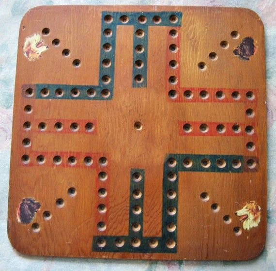 Marble Game With Wooden Board Reserved For Ari Only  Folk Art Handmade Wood Game Board