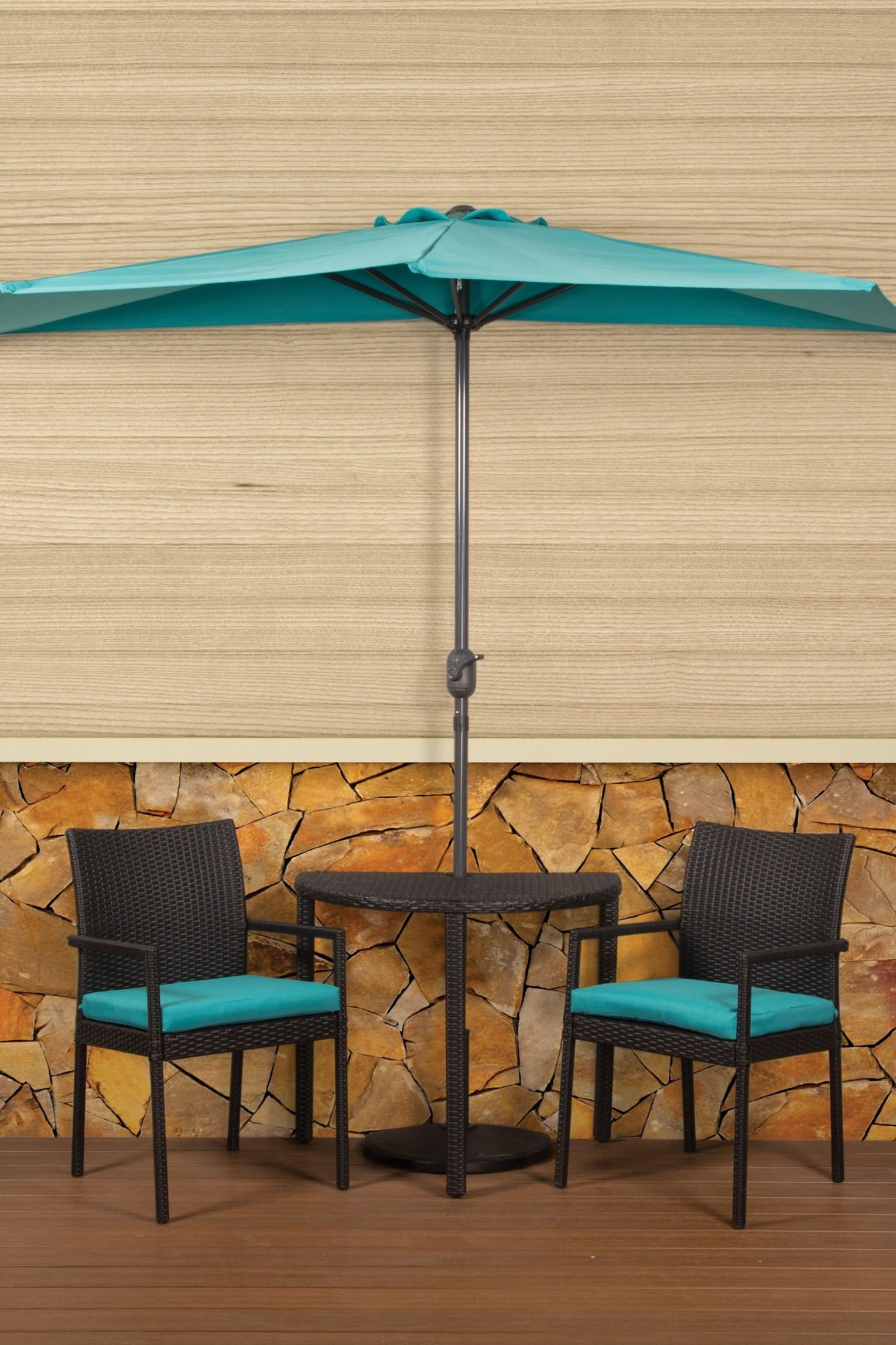 This 5 Piece Bistro Collection Is A Fabulous Addition To Any Small Space Along With Two Cushio Patio Umbrella Stand Patio Table Umbrella Patio Umbrella Covers
