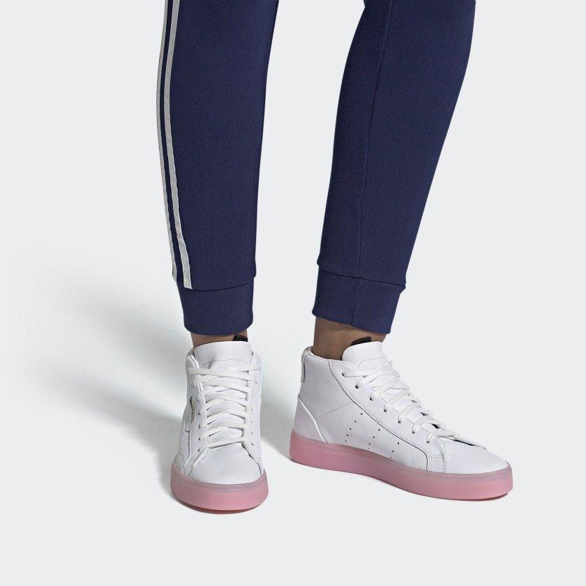 adidas Sleek Mid Schuh Ftwr White Ftwr White Diva EE8612