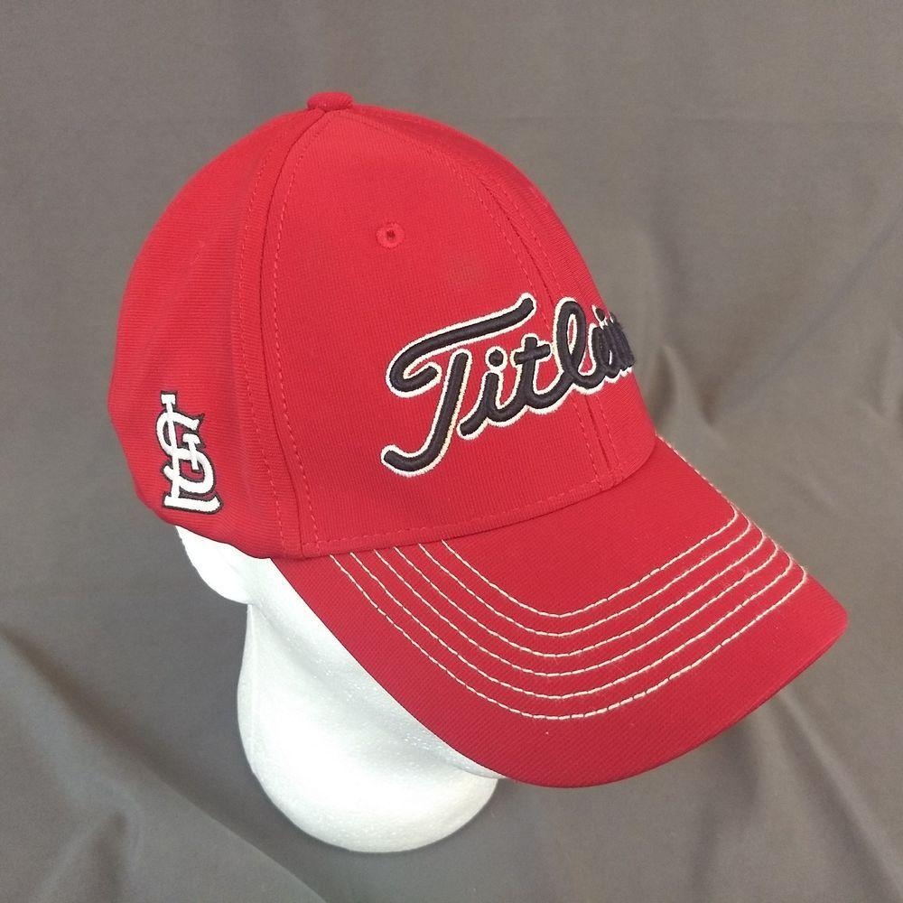 Titleist Golf Stretch Tech St. Saint Louis Cardinals Red Fitted Hat Cap  L XL  Titleist  BaseballCap 70562e7ef