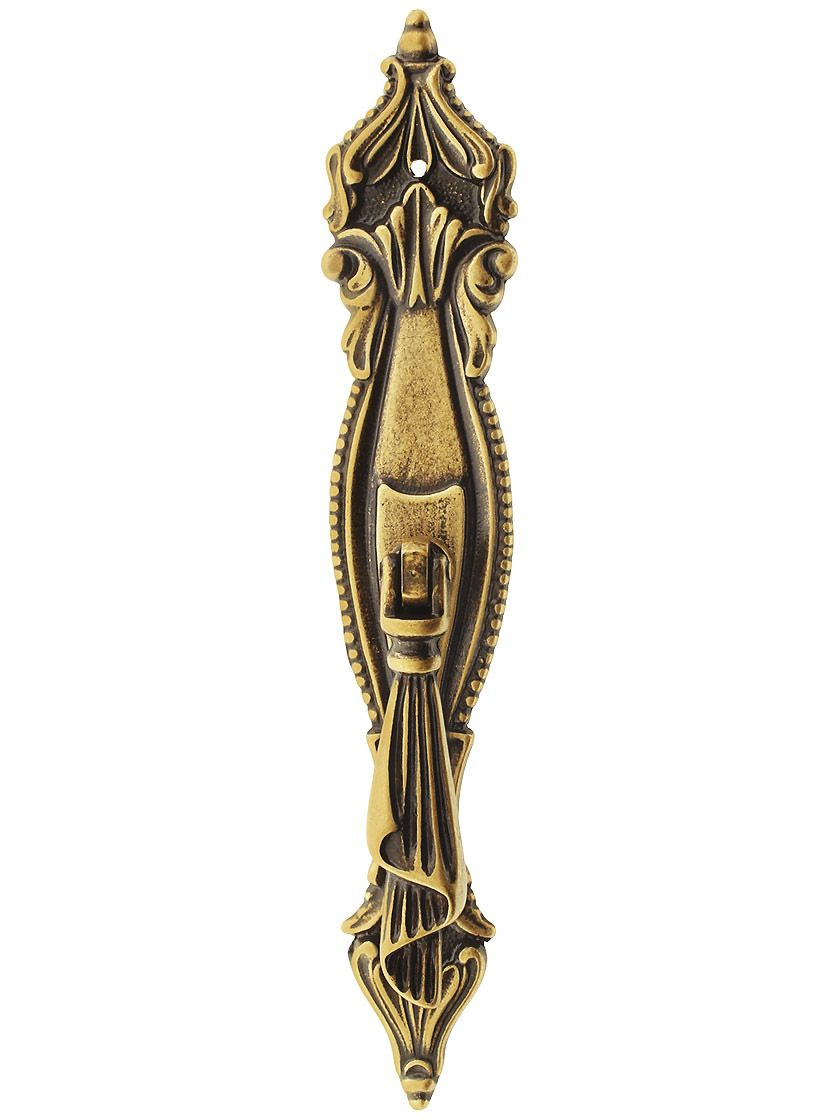 Swag Pendant Cabinet Door Pull In Antique Brass Dark Door Pulls Antique Brass Antique Hardware