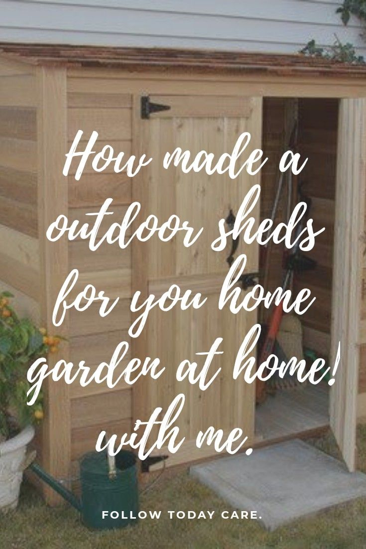 It is very easy to made a shed at home. We just need some measurement method. Click on link read more... #modernhome #homeinspiration #outdoorshed #homemade #garden #garden shed...