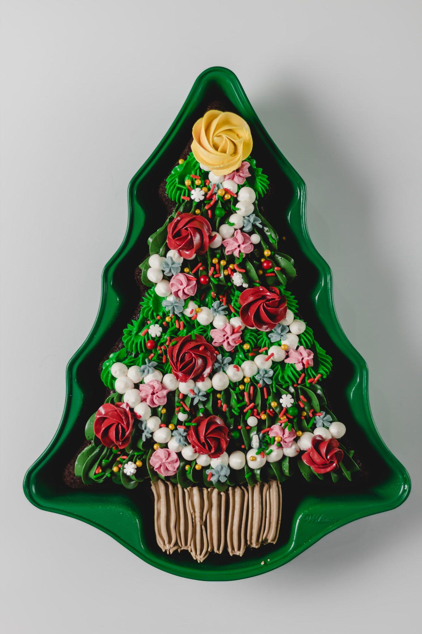 Small Mushroom Chocolate Mold Christmas tree cake, Tree