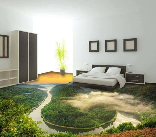 Epoxy Floor Flooring Wandtapete Bodengestaltung Dekor