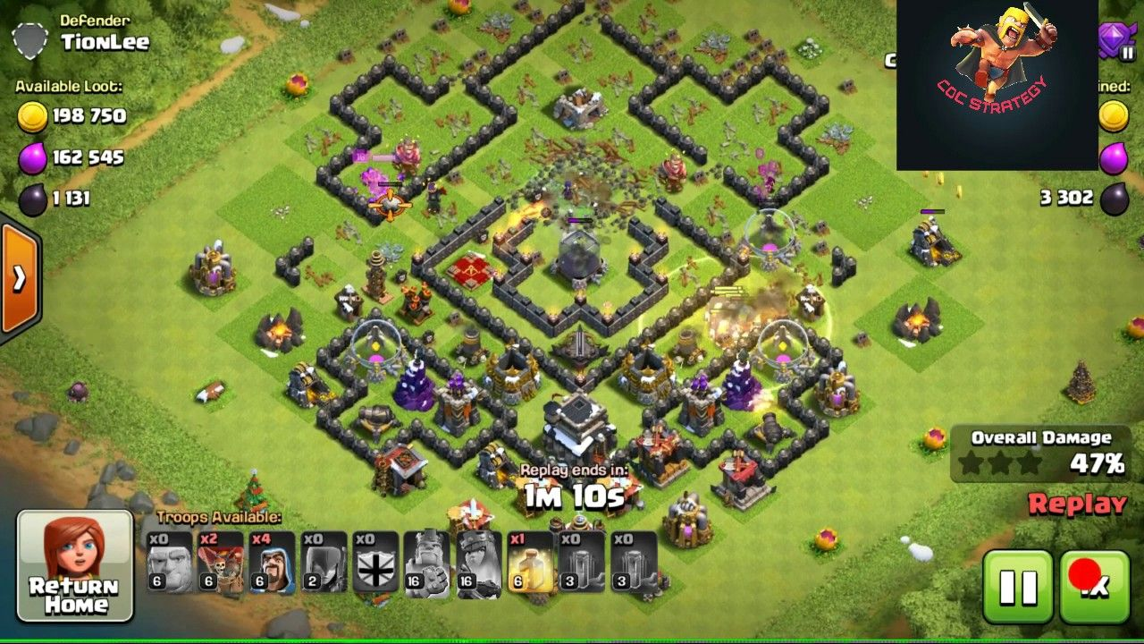 clash of clans army strategy th9