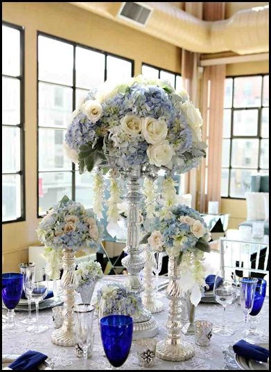 Winter Centerpiece! Minus dark blue glasses | Weddings and Parties ...