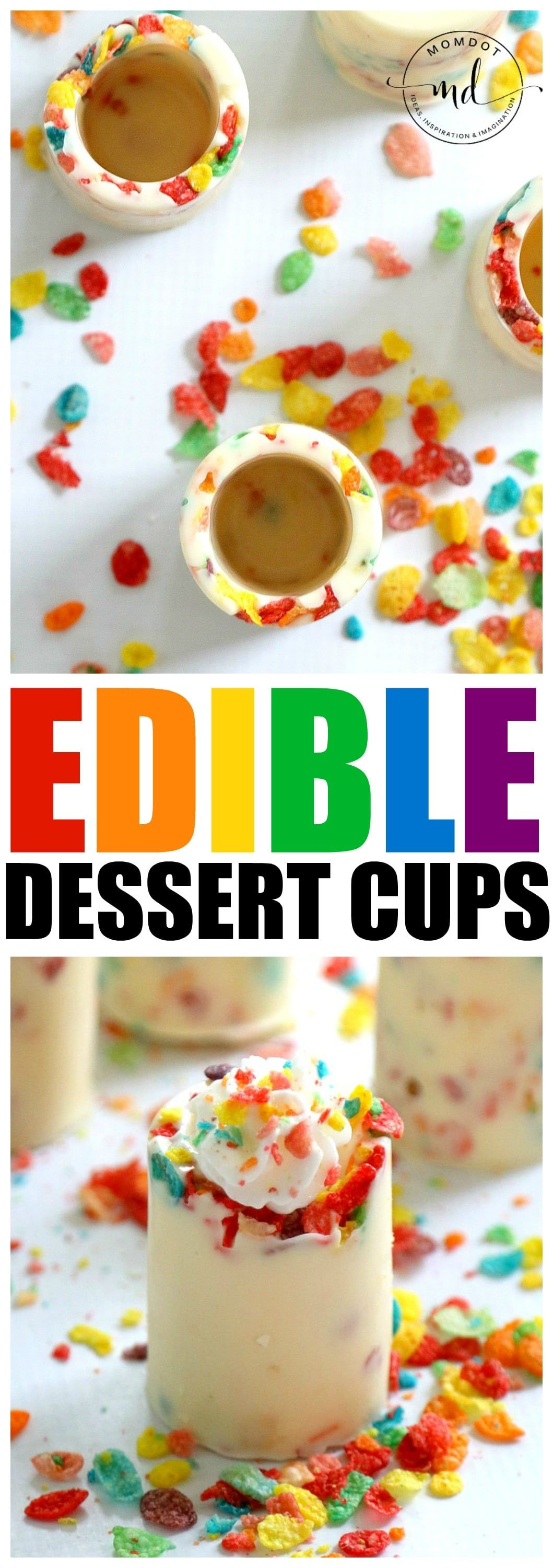 Edible dessert cups perfect for parties dessert cups cereal how to make edible dessert cups perfect to fill for mousse whipped cream pudding ccuart Image collections