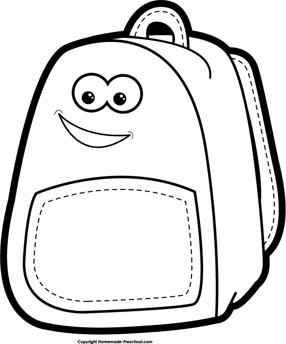 Back To School Clip Art Black And