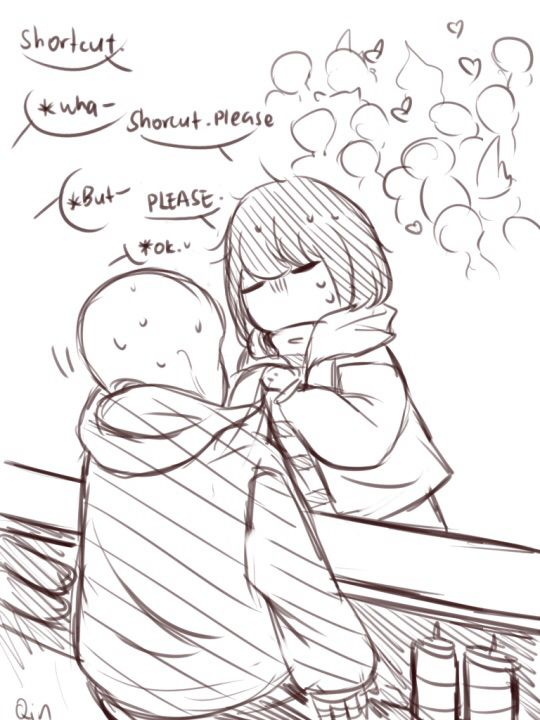 Lol, poor frisk running from the fans