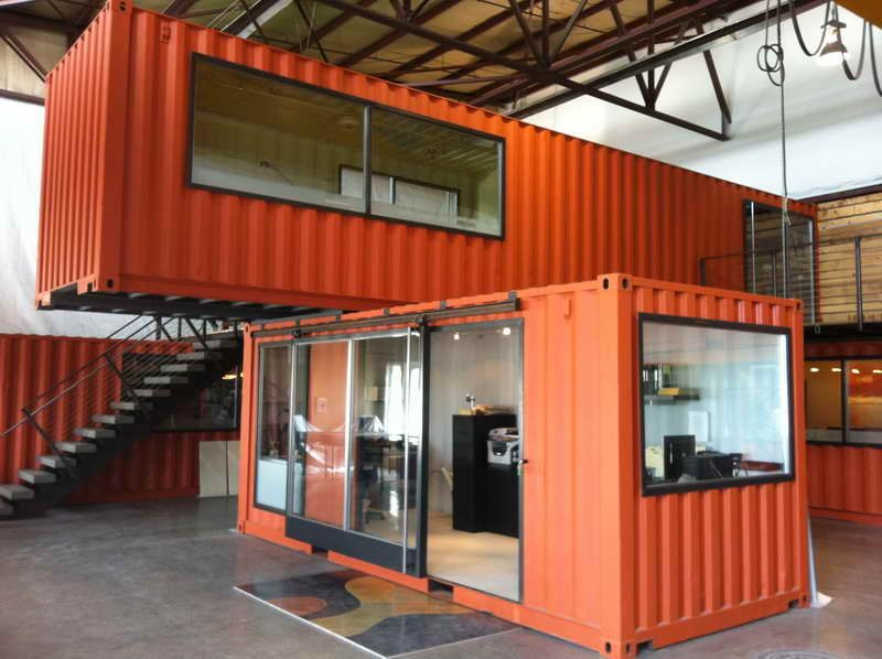 Metal Container Homes steel shipping containers homes with glass door slide | office