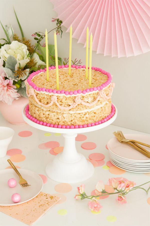 Rice Krispie Cake Oh Happy Day Rice Krispie Treats Cake Rice