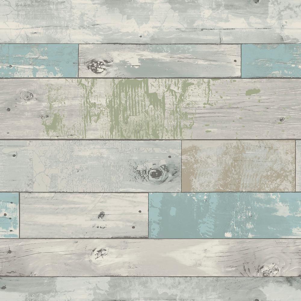Nuwallpaper Multi Color Beachwood Wallpaper Nu1647 Wood