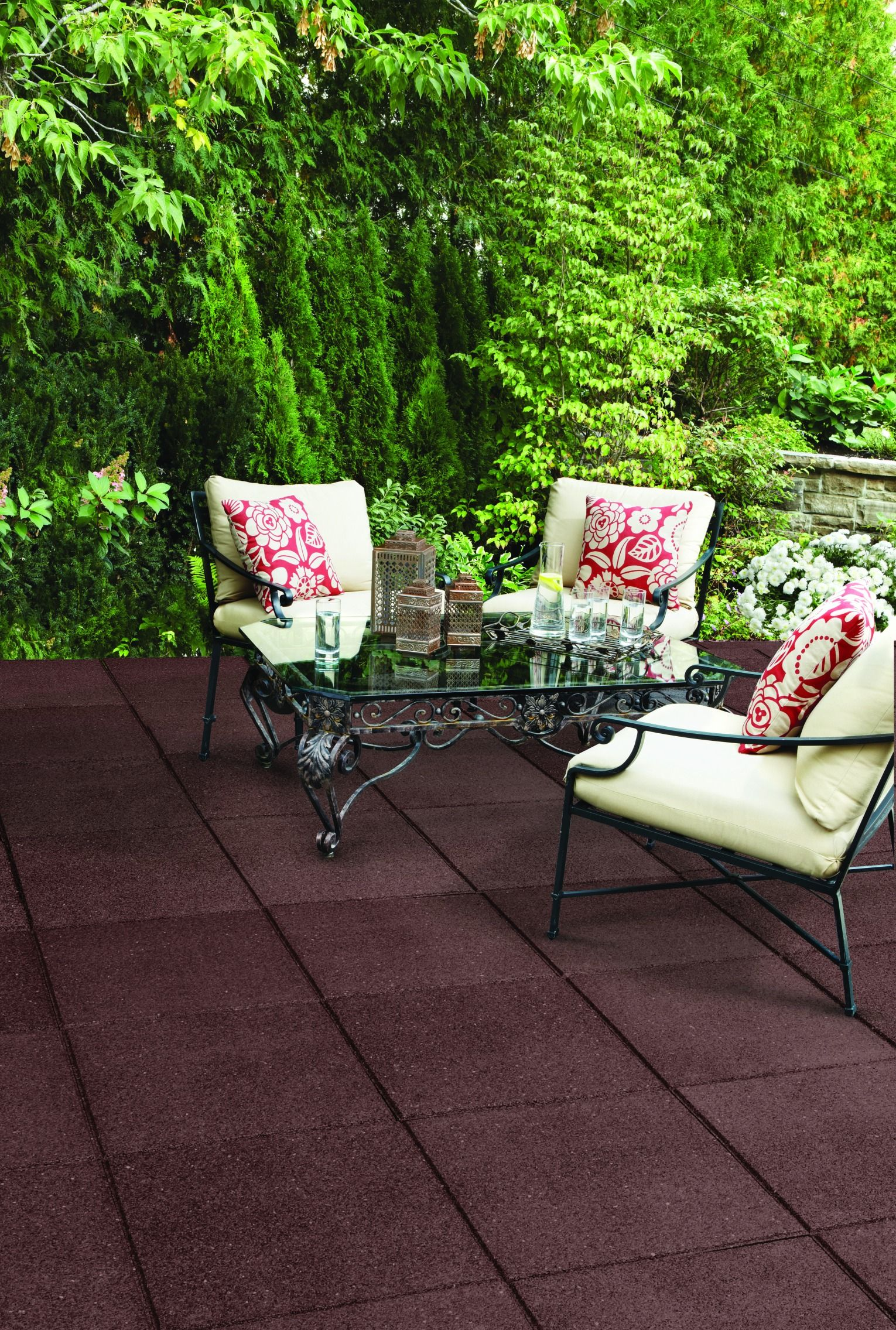 Get maintenancefree beauty with 24'' Smooth Rubber Pavers