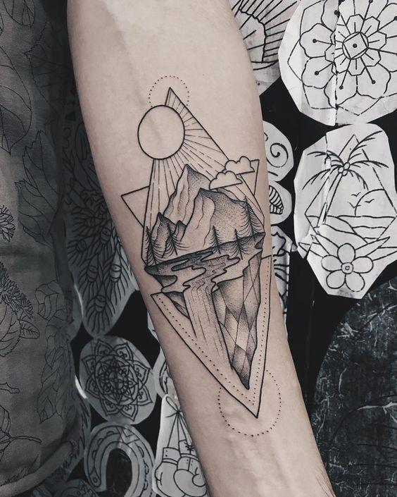 Forearm Tattoos Ideas - Forearm Tattoos Designs with Meaning -   12 geometric tattoo men ideas