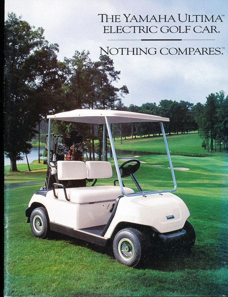 1995 1996 Yamaha Ultima Golf Car 18 Page Original Sales Brochure Catalog Cart In 2020 Golf Car Yamaha Golf Carts Golf