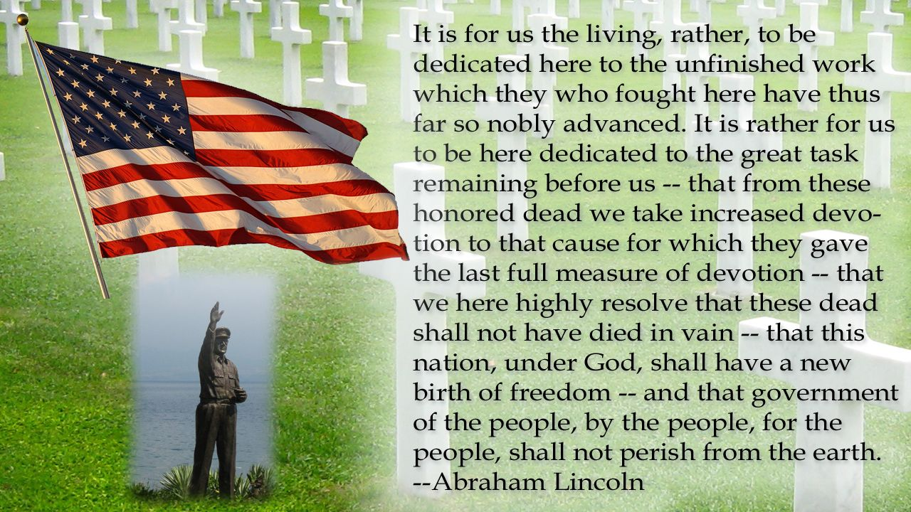 Memorial Day Pinterest Quotes: Memorial Day - Abraham Lincoln Quote