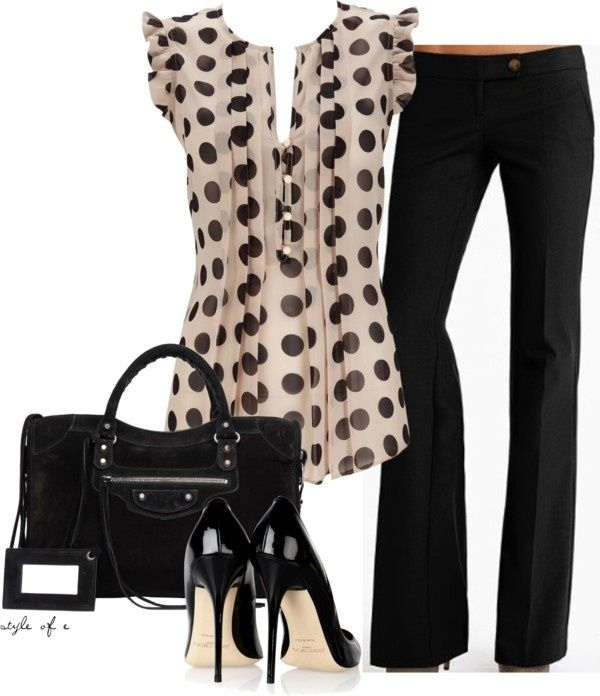 Black Polka Dots by styleofe on Polyvore