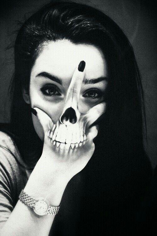 Skull In Hand Tattoo Girl Skull Hand Tattoo Tattoos Girl Tattoos