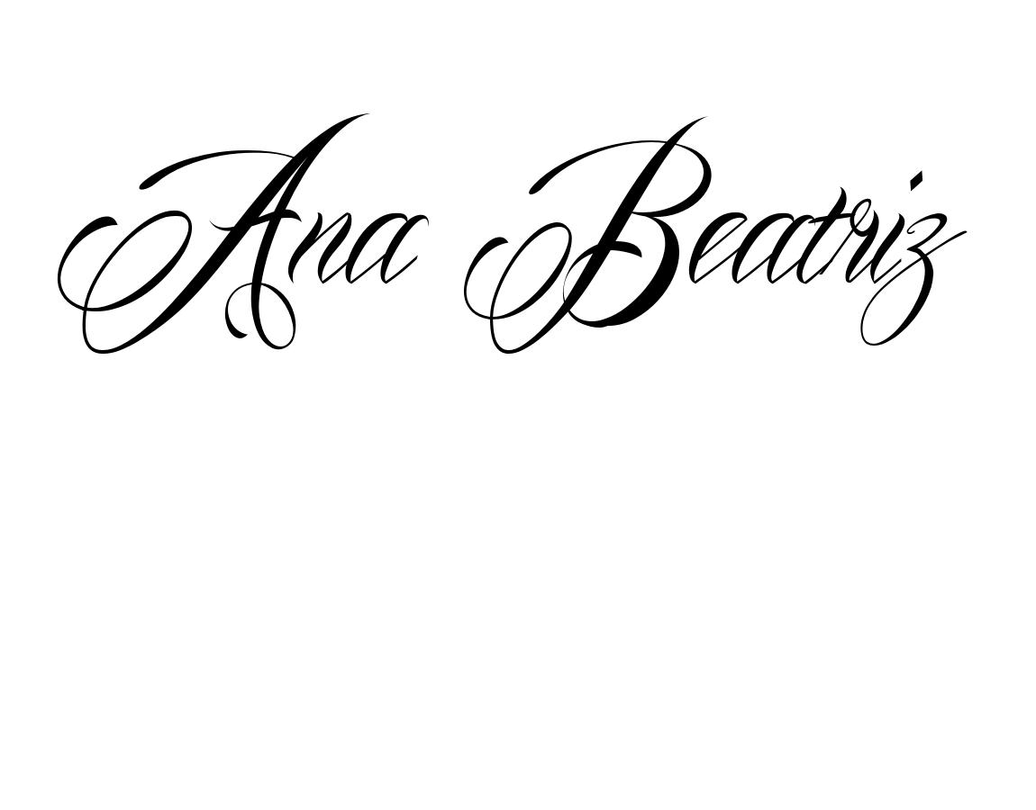 Tatuagem Ana Beatriz Usando O Estilo De Letra Mardian Nome Beatriz Estilo De Letra Tatuagens Nomes
