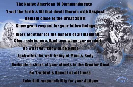 10 Native Commandments