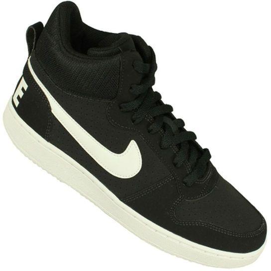 R 299 90 Tenis Nike Court Borough Mid Preto Branco Tenis Nike Nike Tenis