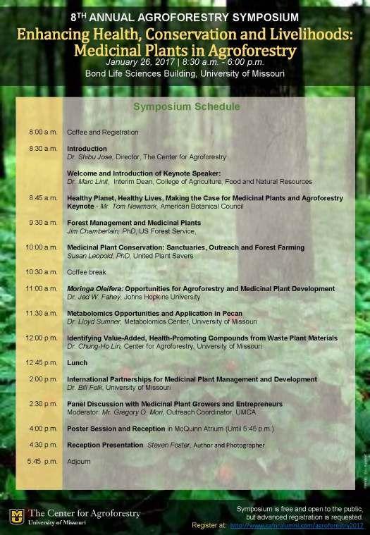 8th Annual UMCA Agroforestry Symposium Agenda Jan 26 2017 - annual agenda