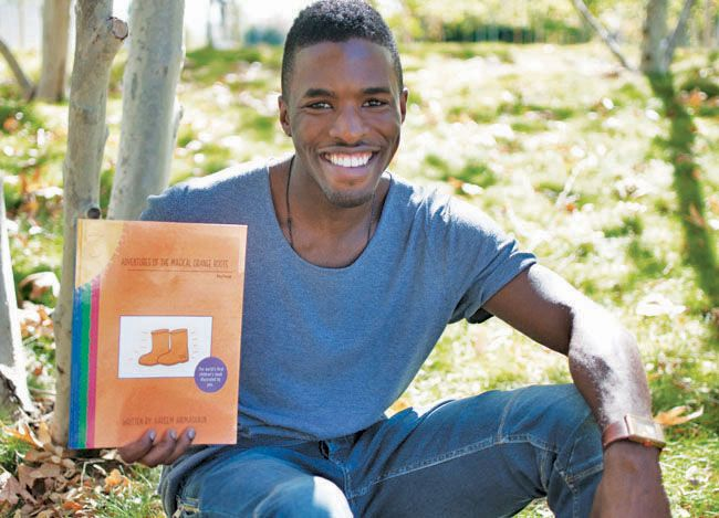 """#CSUN student creates one-of-a-kind children's book, worth looking into.  After reading """"Where the Wild Things Are,"""" Hakeem Animashaun became inspired to create a children's book where the child could let their imagination roam, and illustrate their own drawings."""