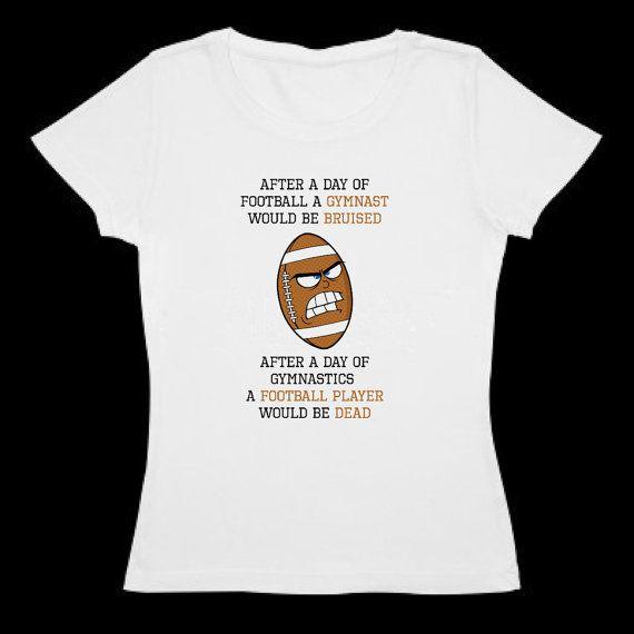 58f55f801195 Gymnastic t shirt - Gymnast vs Football player