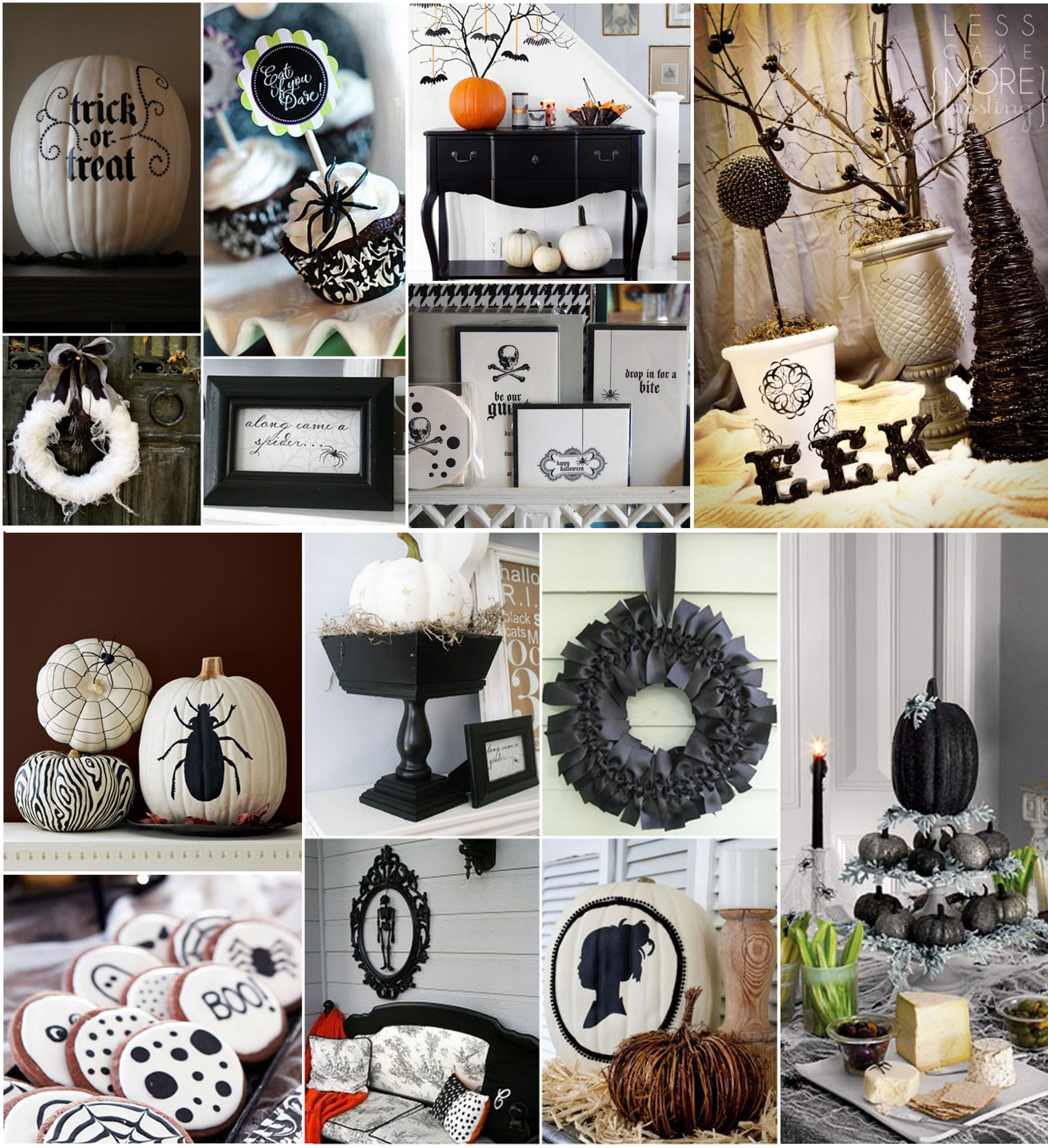 modern halloween decor - Google Search