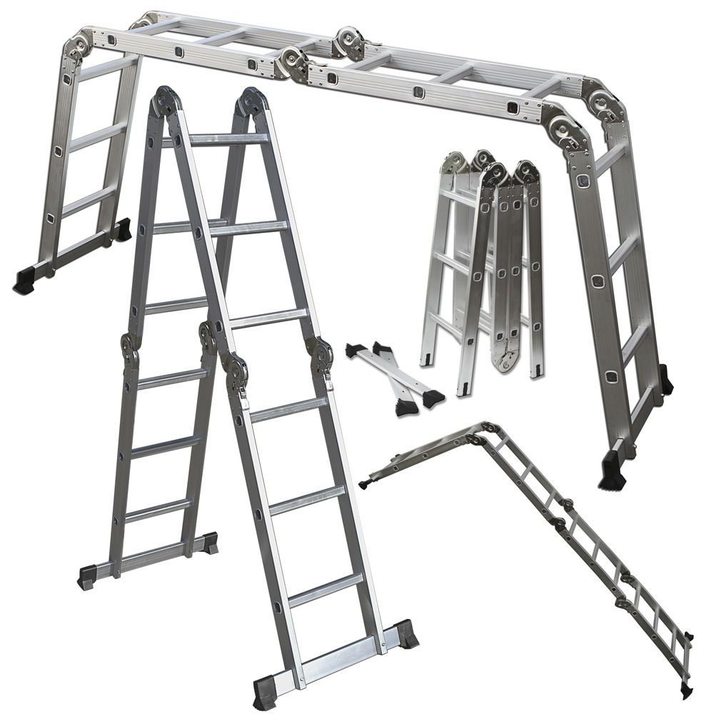 Scaffold Ladder Heavy Duty Giant Aluminum 12 5 Ft Multi Purpose Fold Step Extend Best Ladder Scaffold Ladder Multi Purpose Ladder