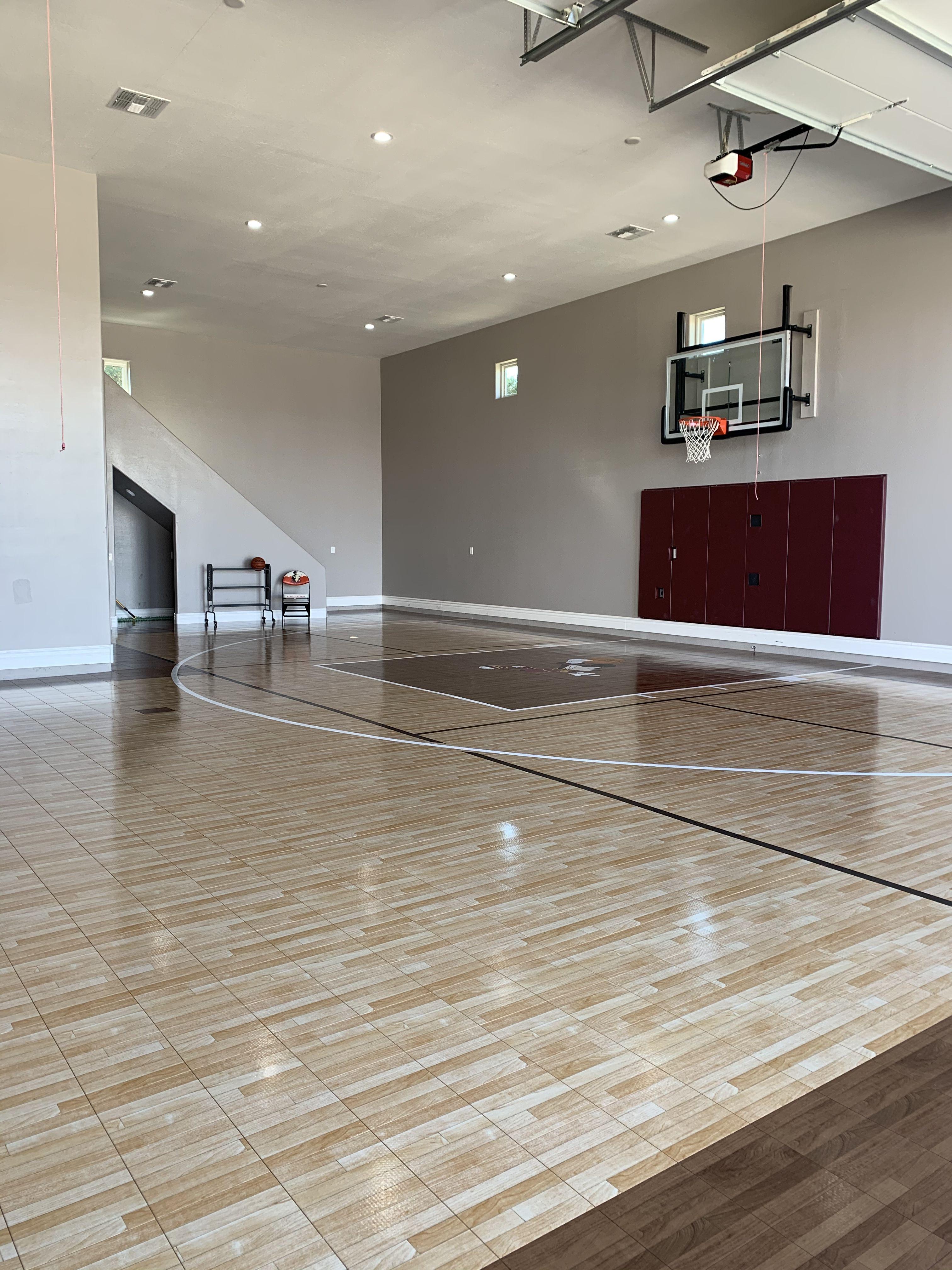 Indoor Basketball Court In Rv Garage Backyard Guest Houses Dream House Rv Garage