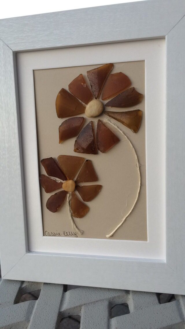 Brown-petaled sea glass flowers actually look pretty nice??? Something to do with your brown glass!