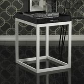Found it at Wayfair - Tray Table with White Legs and Black Removable Tray