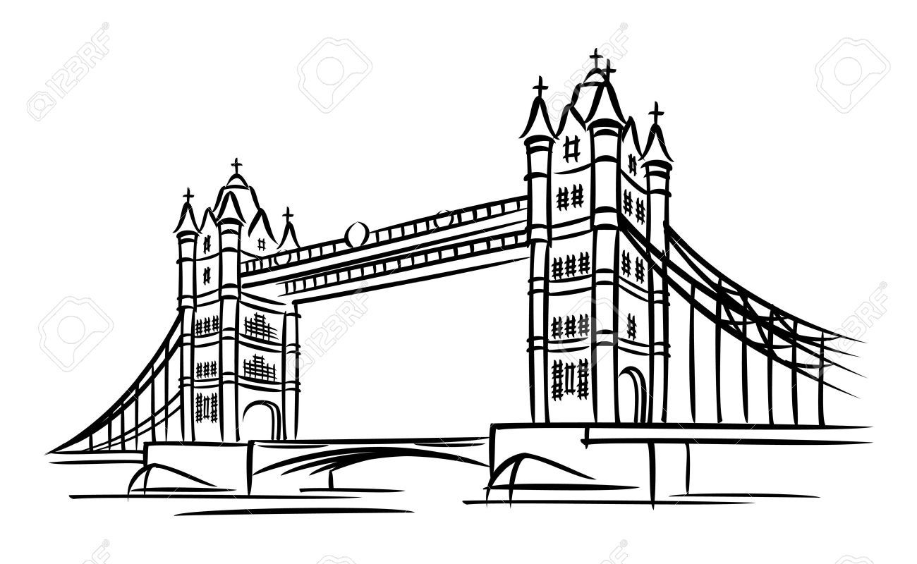 Image Result For London Bridge Clipart Bridge Drawing Tower