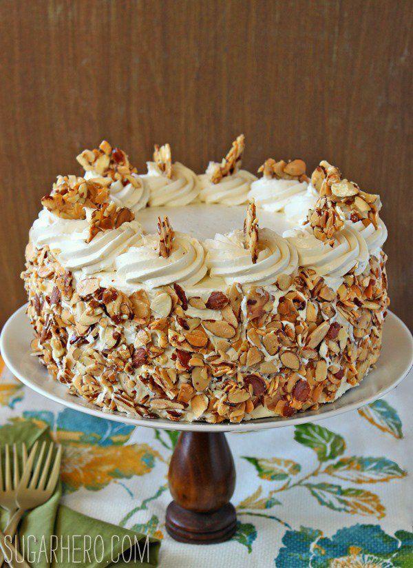 Burnt Almond Cake Recipe Egg Whites Milk Vanilla Almond