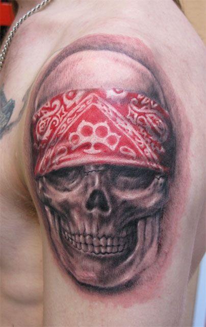 biker skull tattoo