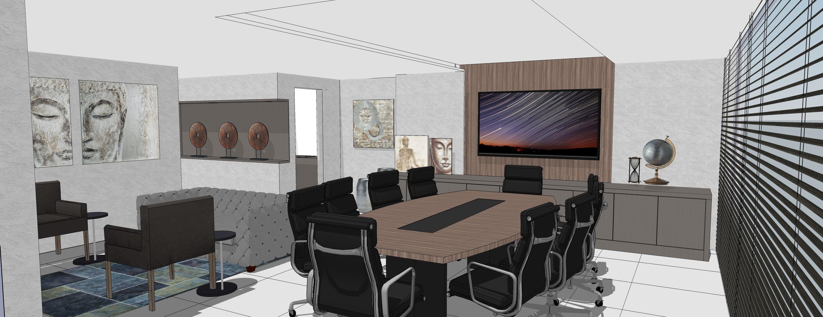 Sala de reuniões por AD Progettare Arquitetura e Decoração Ltda.