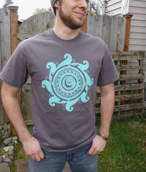 Surf Wave Mandala Screen Printed in Bright by astrolaboratory, $20.00