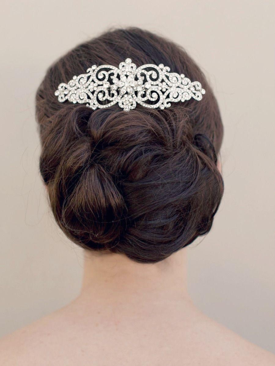 hair comes the bride - bella twilight inspired bridal hair comb