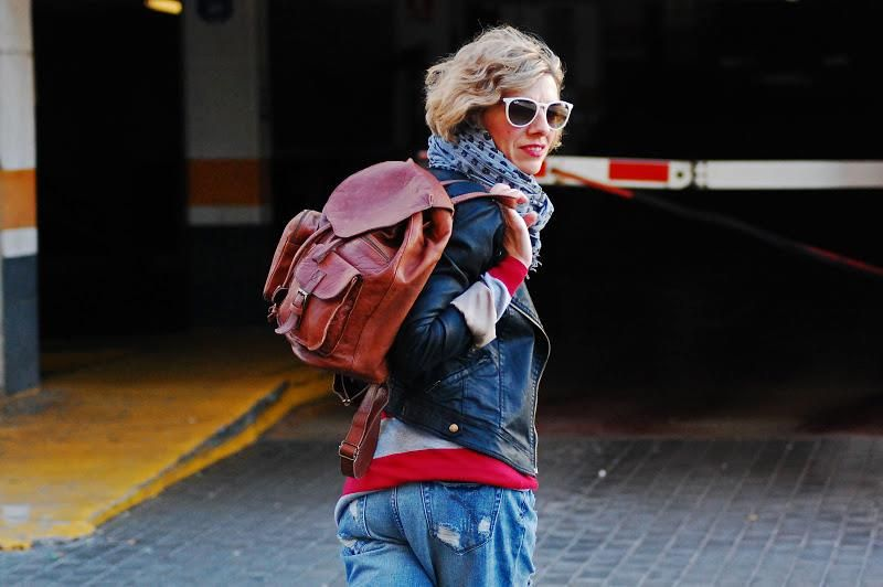 Spotted: System Action Jacket, Scarf and Bag at www.tarracostyle.blogspot.com