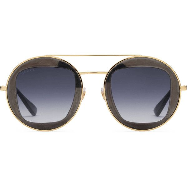 306666b98d8 Gucci Eyewear circular glasses 220 liked on Polyvore featuring