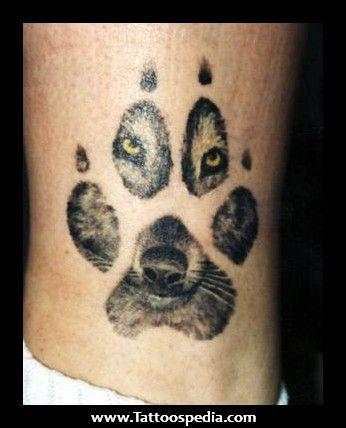 Native American Wolf Tattoos Wolf Paw Tattoos Wolf Paw Print Wolf Tattoos