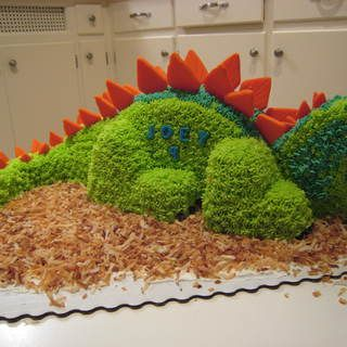 3d Dinosaur Birthday Cake Cake templates Dinosaur cake and Round