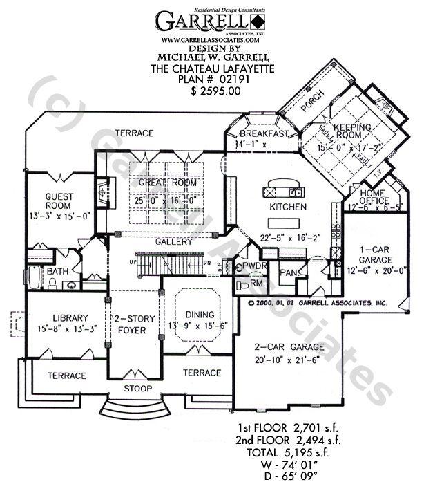 Chateau Lafayette House Plan